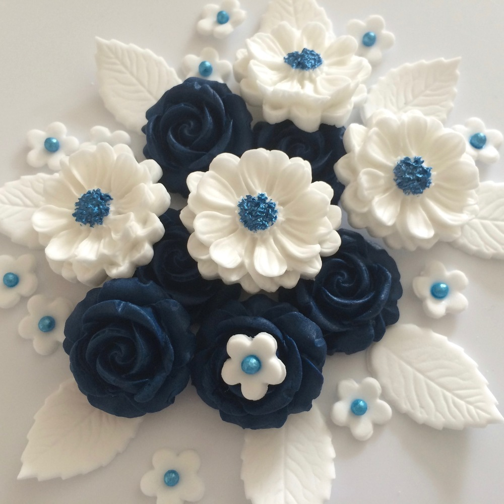 Navy Blue Rose Bouquet