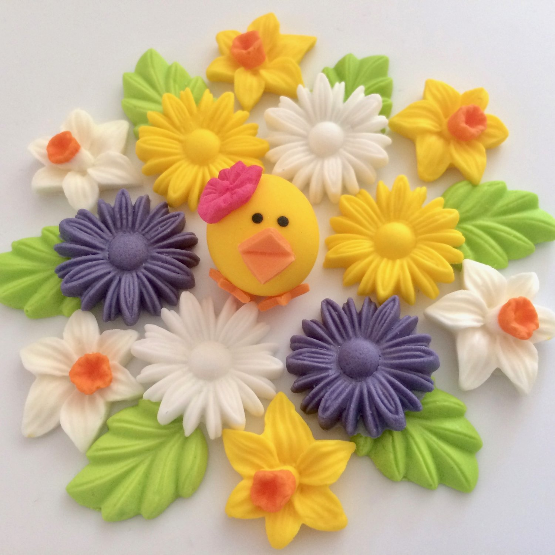 Spring Chick Sugar Flowers