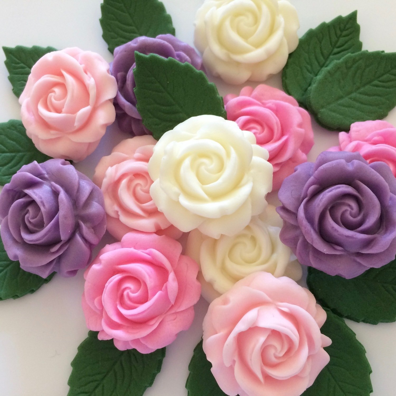 Lilac Pink Ivory Sugar Roses
