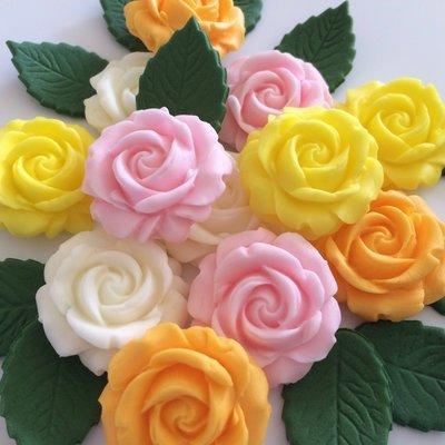Summer Roses & Leaves