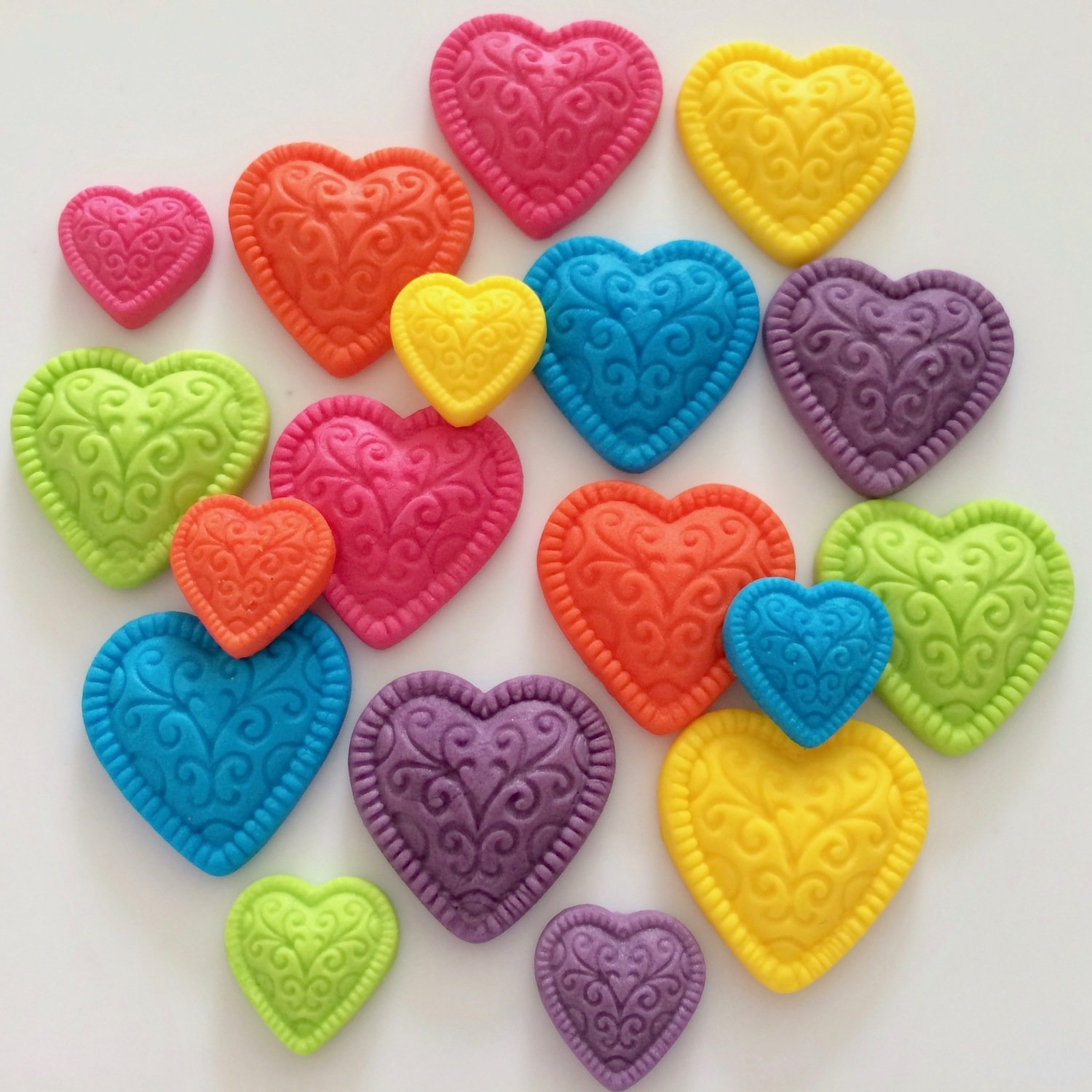 Rainbow Sugar Hearts