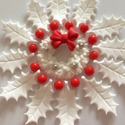 White Holly Wreath