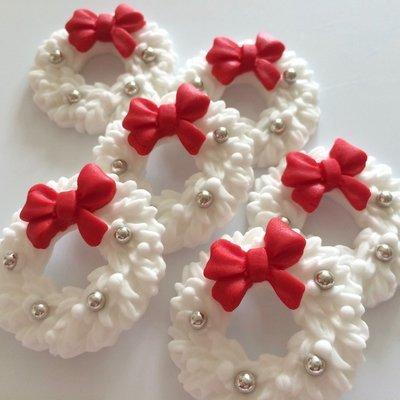 White Christmas Wreaths