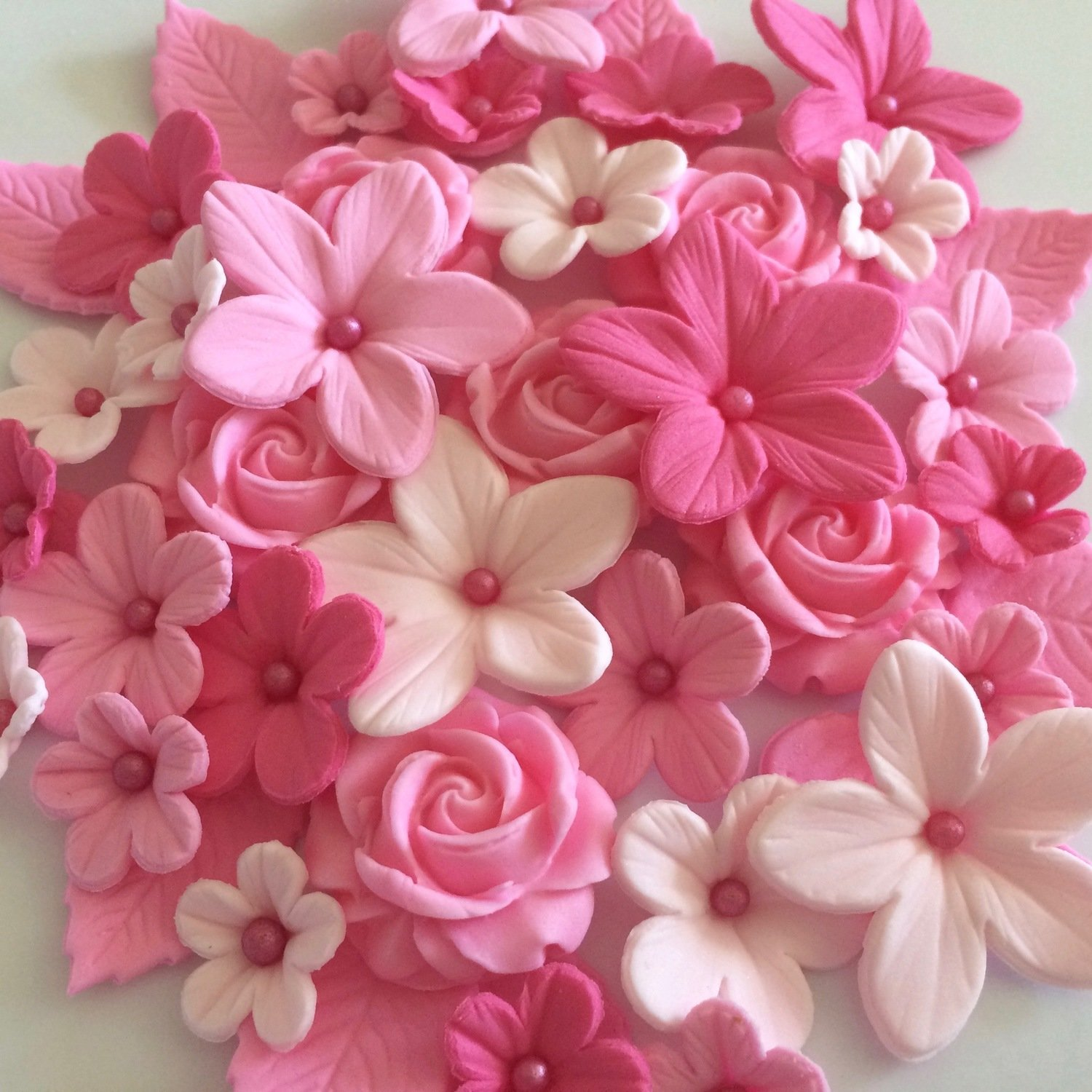 Love Pink Sugar Flowers
