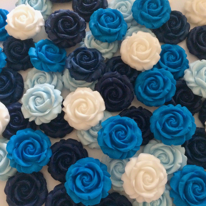 Mixed Blue Sugar Roses