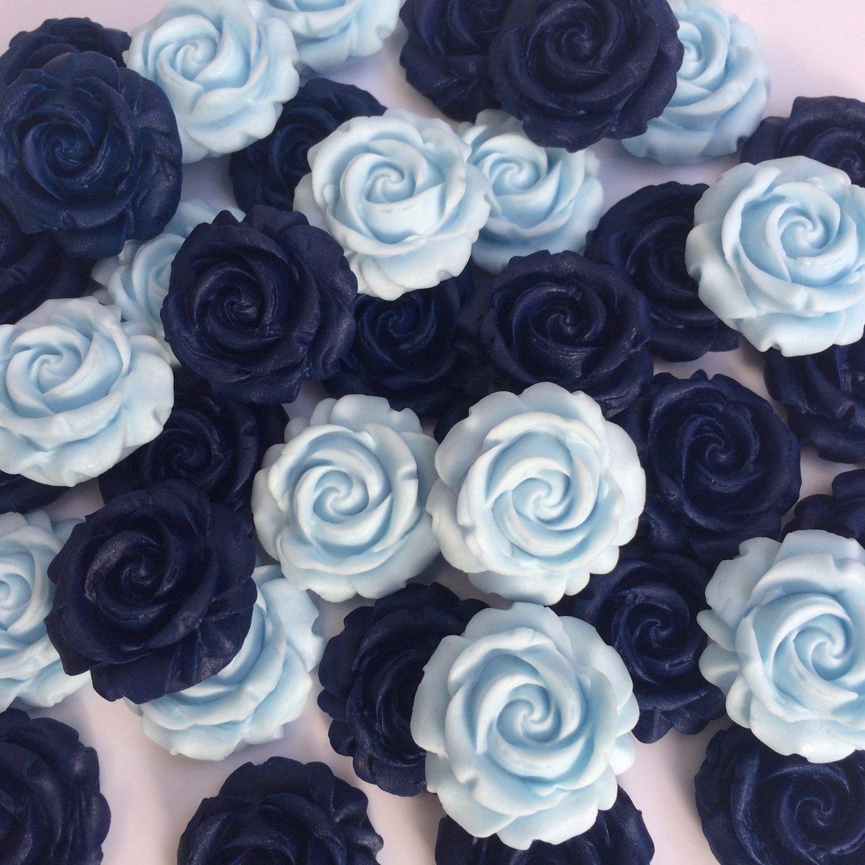 Navy Blue Baby Blue Sugar Roses