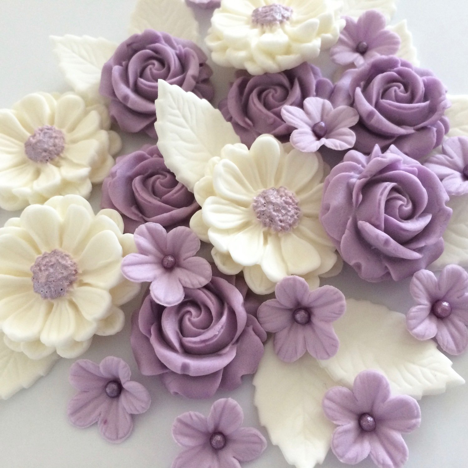 Lilac Ivory Rose Bouquet