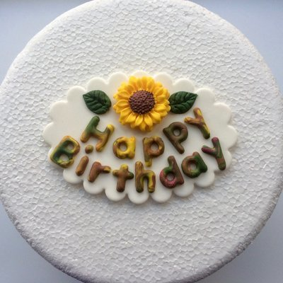 Sunflower Birthday Plaque