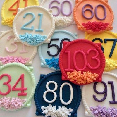 Sugar Number Plaque