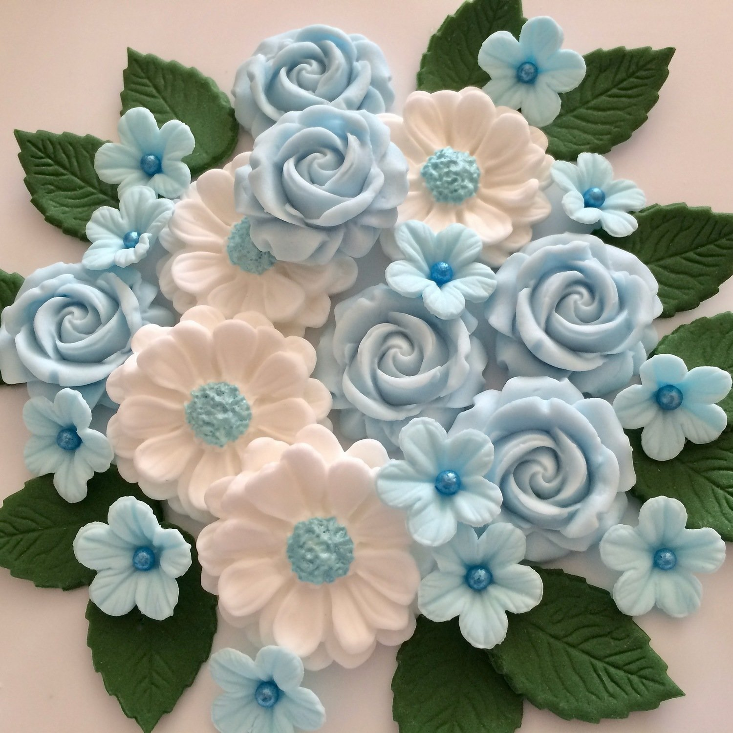 Pale Blue Rose Bouquet