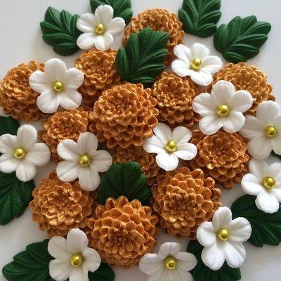Gold Chrysanthemums