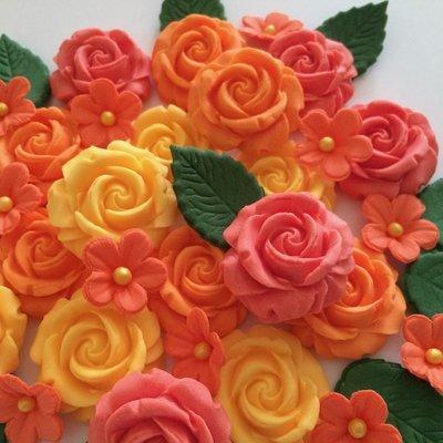 Orange Peach Apricot Roses