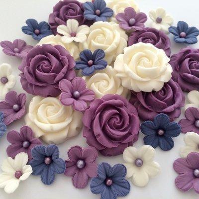Purple Cream Roses