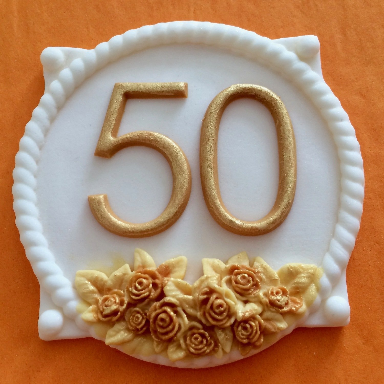 Gold 50 Plaque