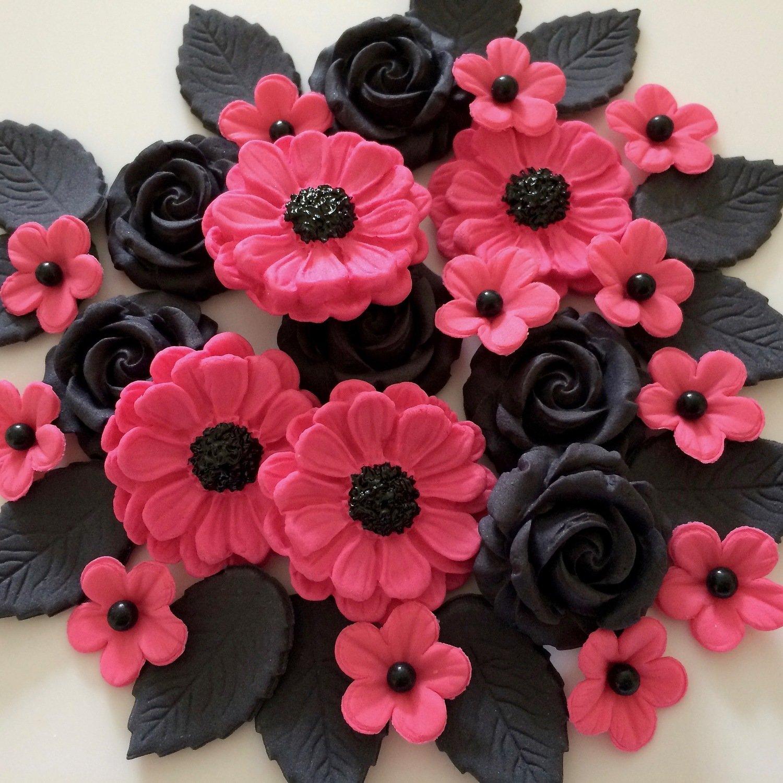 Black Pink Rose Bouquet