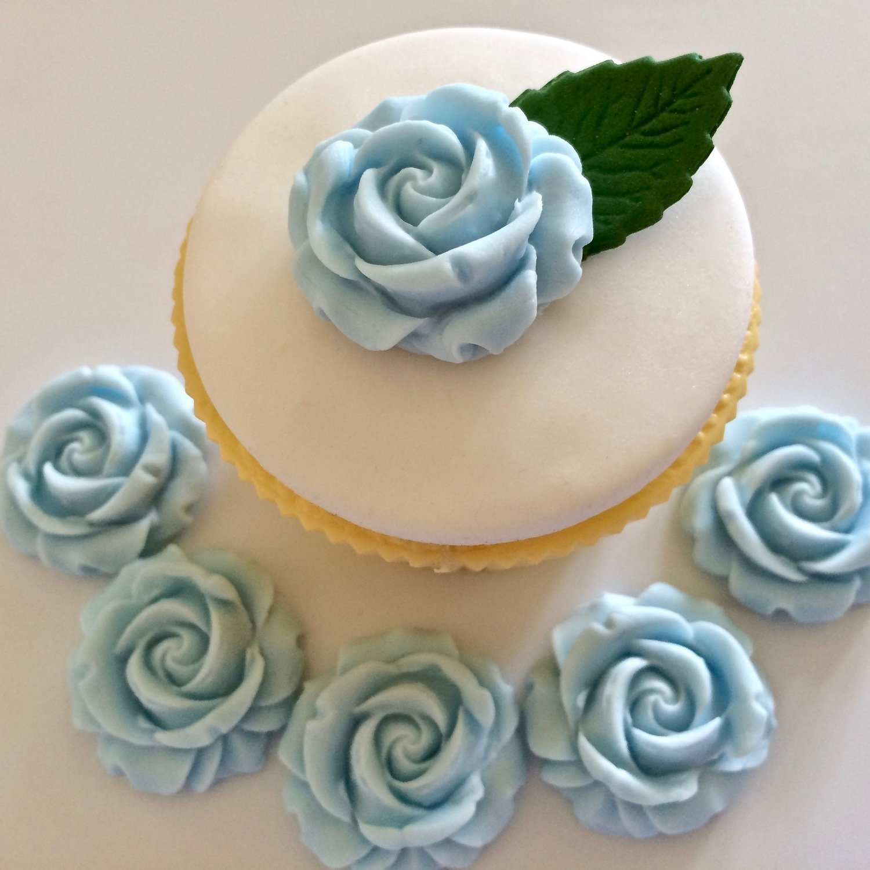 Pale Blue Sugar Roses