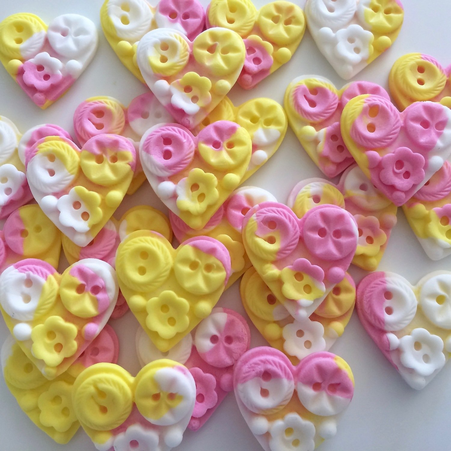 Button Sugar Hearts