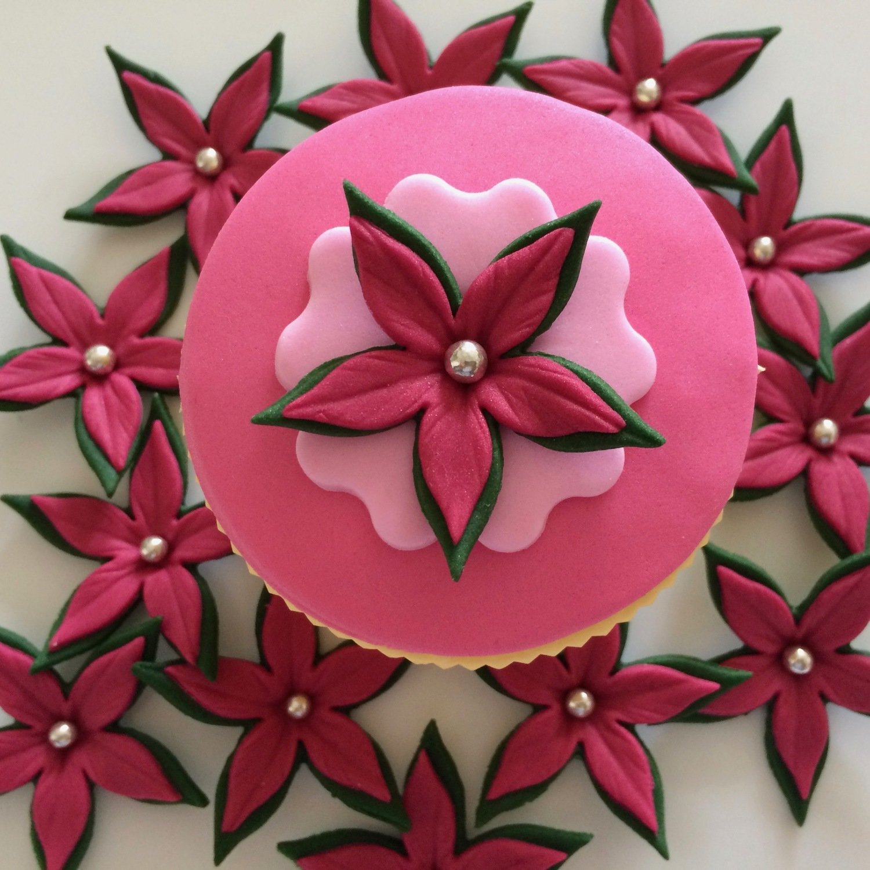 Ruby Red Cupcake Petals