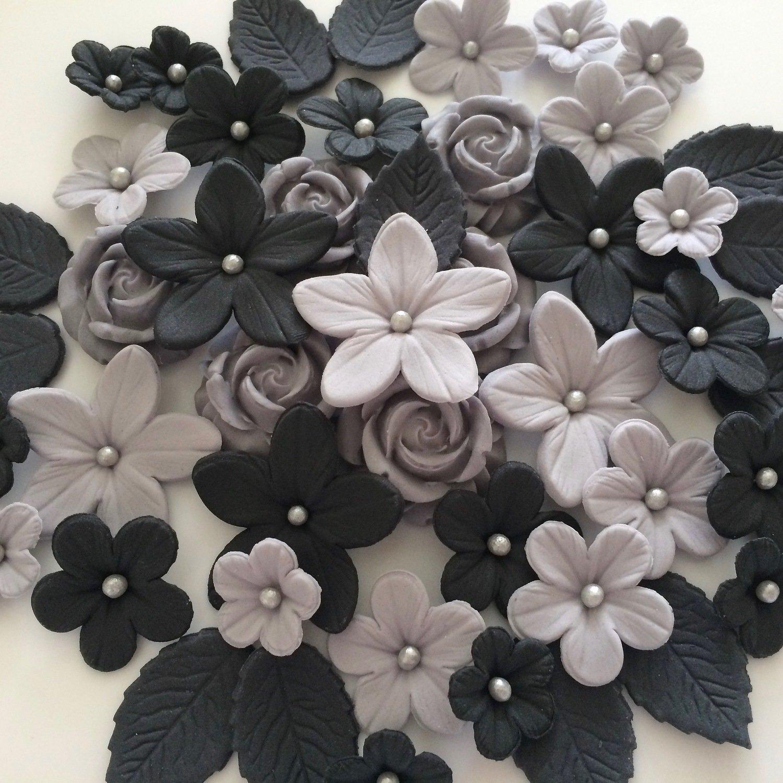 Love Black Grey Flowers