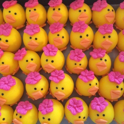 Easter Cake Chicks