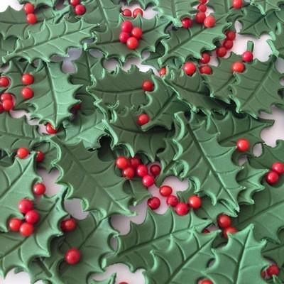 Holly Leaves & Berries