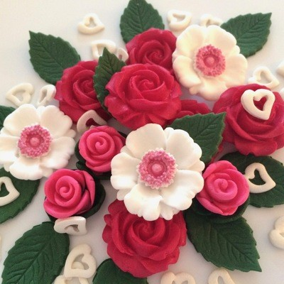Fuchsia Pink Rose Bouquet