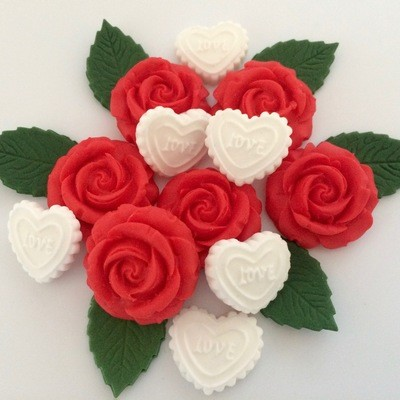 Valentine Roses Hearts