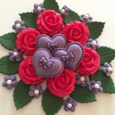 Red Roses Purple Hearts