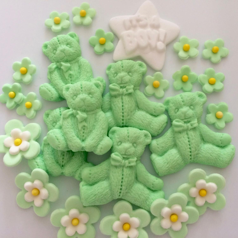 Green Flowers & Bears