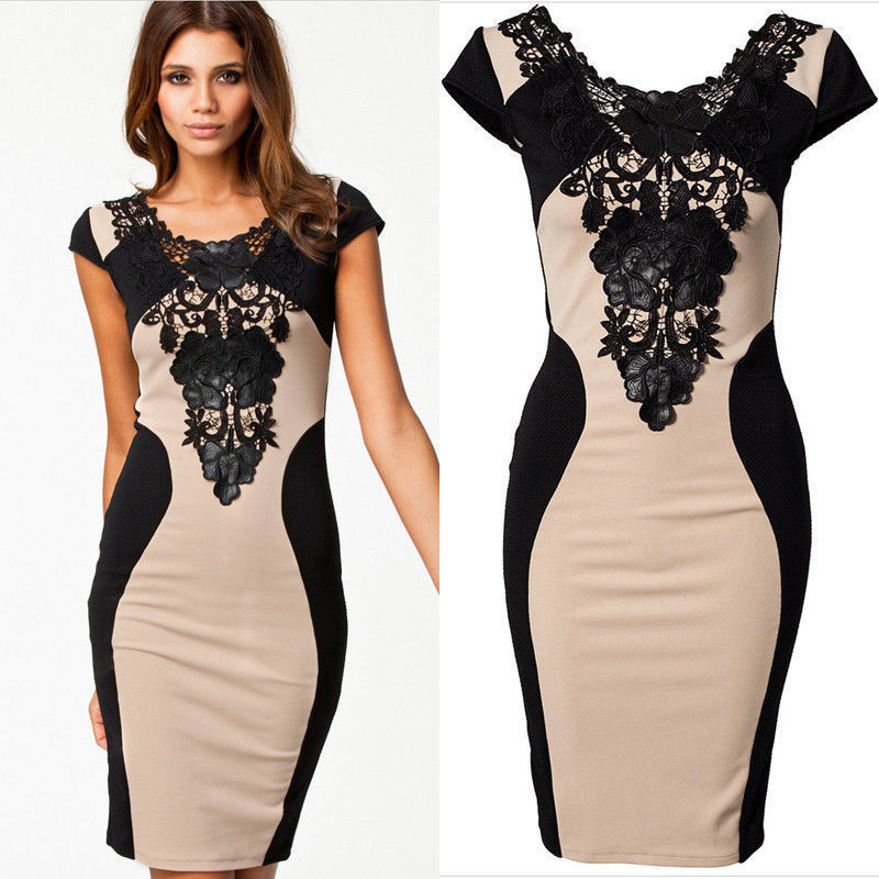 Hot Fashion Women Floral Lace Short Sleeve