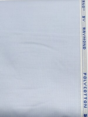 Raymond light blue polycotton fine shirt fabric