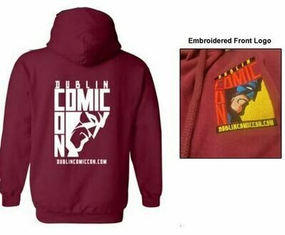 DCC Burgundy Pull Over Hoodie - Front Embroidered / Back Print