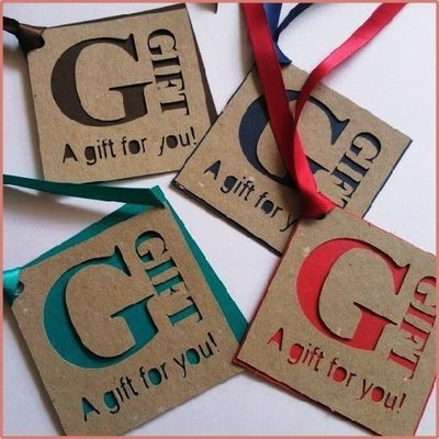 Two Tone, Cut Out Gift Tag