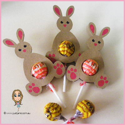 Easter Bunny Lollipop Holders - Set of 12