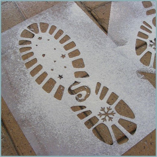 Santa's Boots Template/Stencil - Pair of
