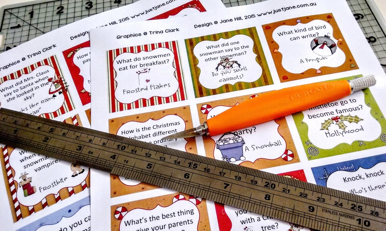 Cheeky Christmas Lunchbox Joke Cards - Print at Home