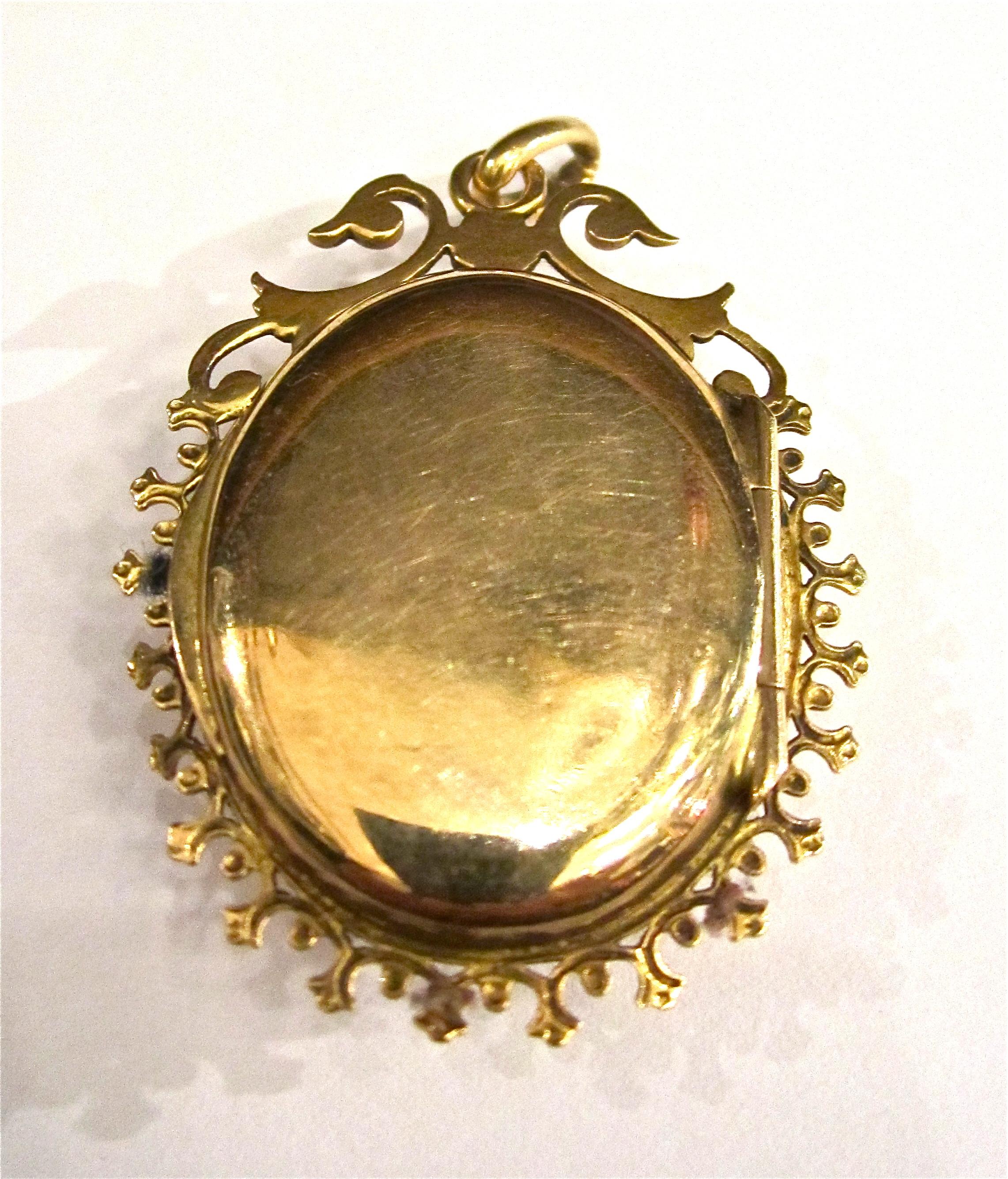 Medaillon Gold Onyx um 1860 Napoleon III, Gründerzeit, Amulett ...