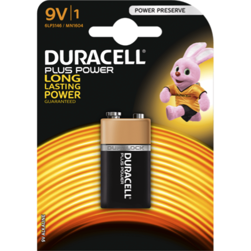 9V Duracell Plus Power