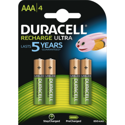 AAA Duracell Rechargeable PreCharged B4