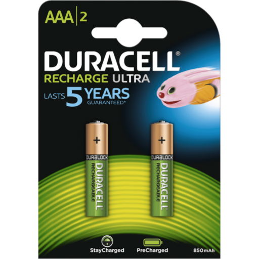 AAA Duracell Recargable PreCharged B2