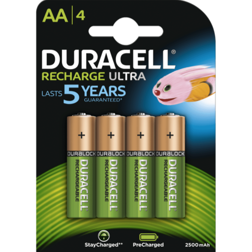 AA Duracell Recargable PreCharged B4