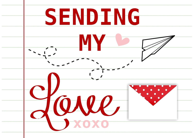 Sending Love w/ Envelope Printable