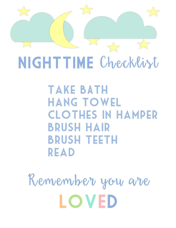 Kids Nighttime Checklist