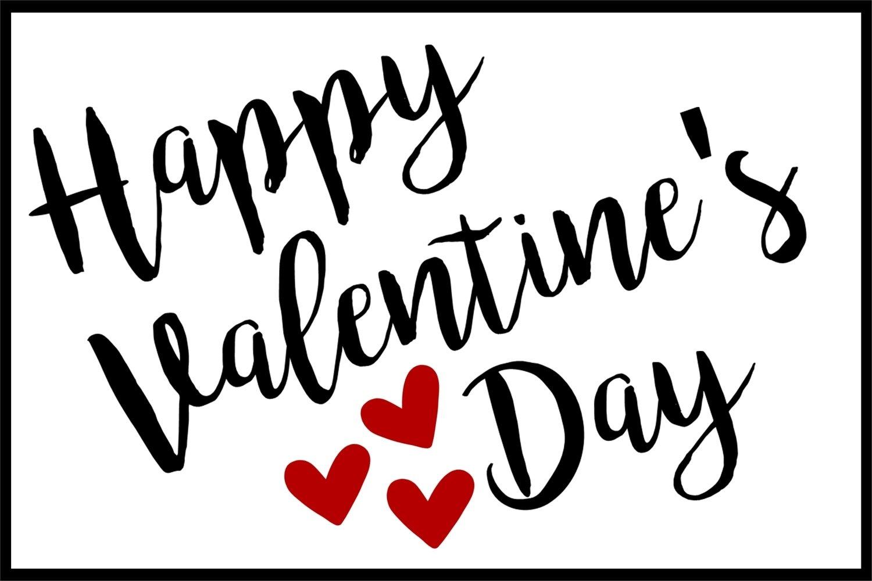 4x6 Happy Valentines Printable