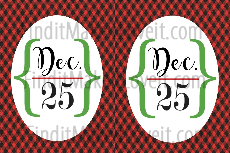 Dec. 25 Printable 3x4