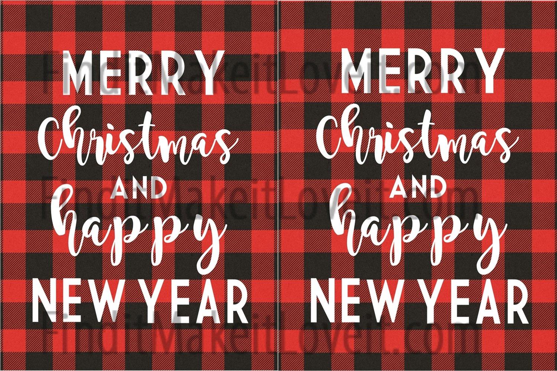 Merry Christmas Printable 3x4