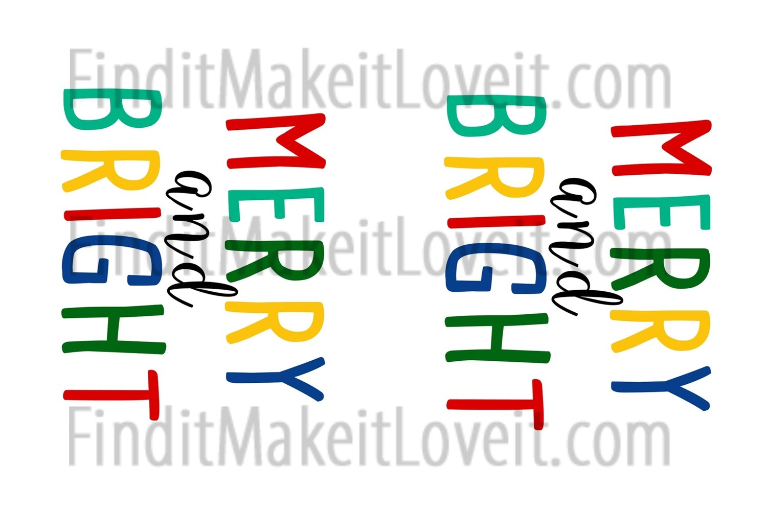 Merry and Bright Printable 3x4
