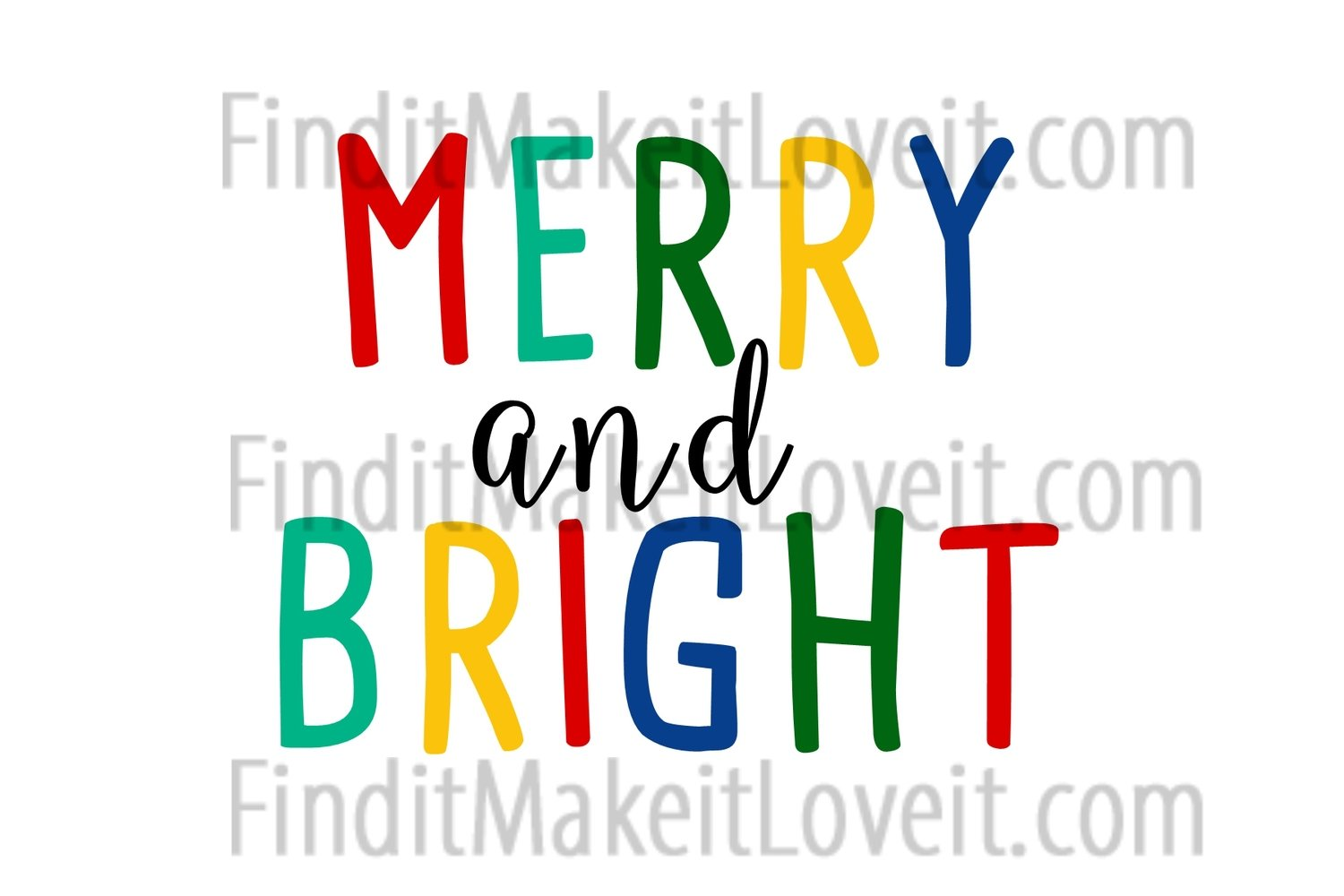Merry and Bright Printable 4x6