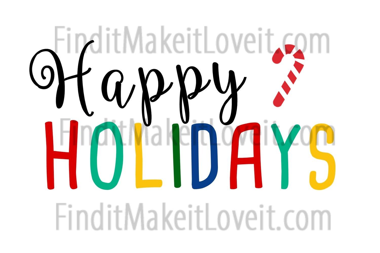 Happy Holidays Printable 4x6