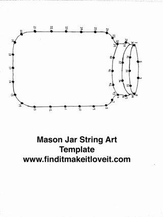 Mason Jar String Art Template